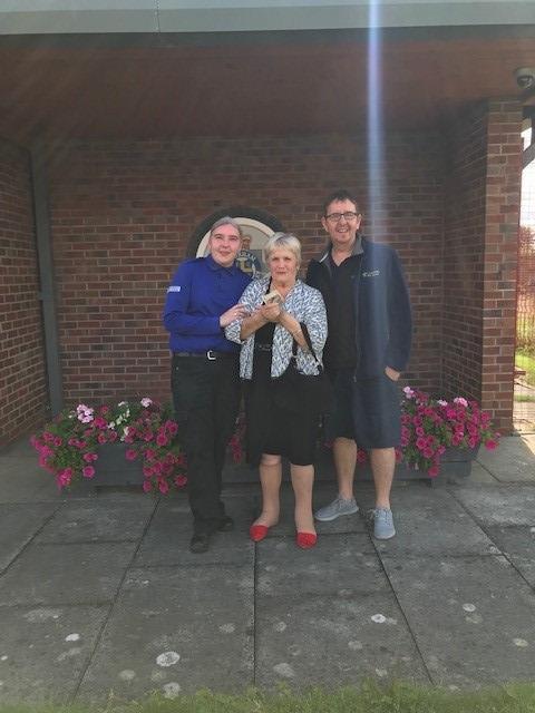 PCSO Atkinson with Elizabeth Adams and Nev Jones from Community Spirit Newton Aycliffe