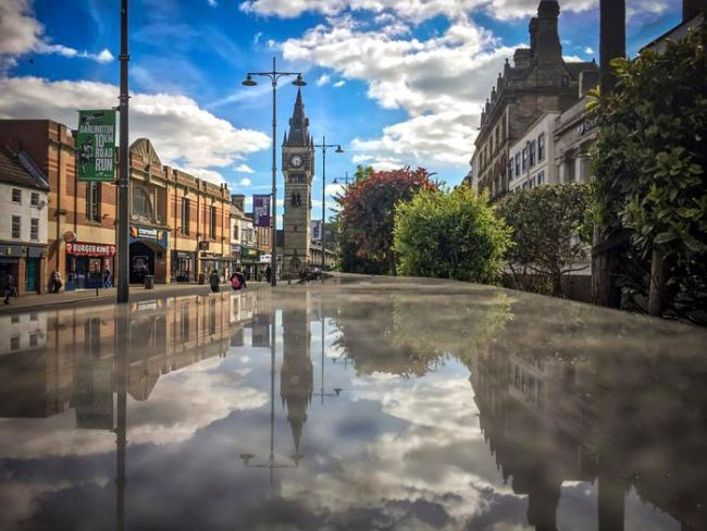 Darlington town centre for shopping and leisure. Photo by Mark Brownless