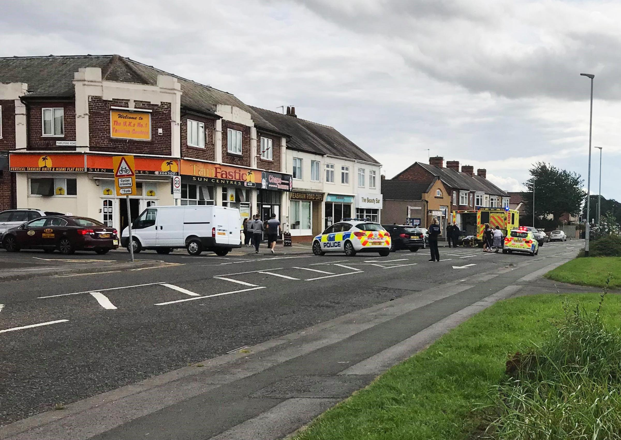 Man in wheelchair struck by vehicle in Darlington - road closed