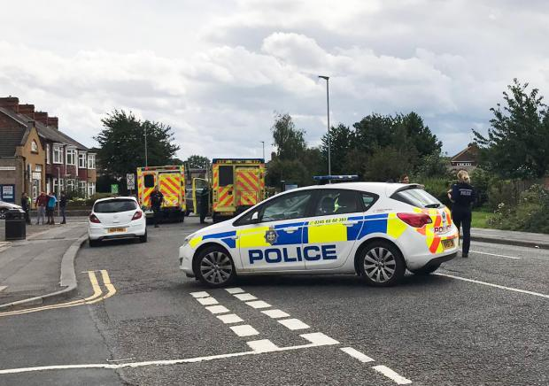The Northern Echo: Neasham Road, in Darlington, where a man has been struck by a vehicle. Picture: Sarah Caldecott