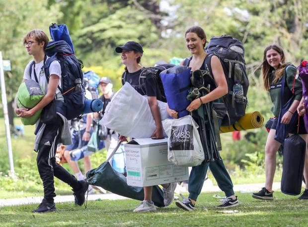 The Northern Echo: Festival goers arriving this morning