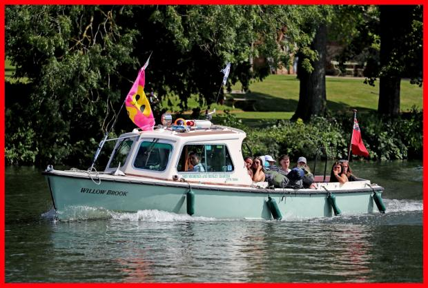 The Northern Echo: Festival goers arriving by boat