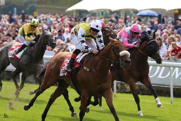 Dakota Gold ridden by Connor Beasley wins The Sky Bet And Symphony Group Stakes during Juddmonte International Day of the Yorkshire Ebor Festival at York Racecourse (Picture:Nigel French/PA Wire)