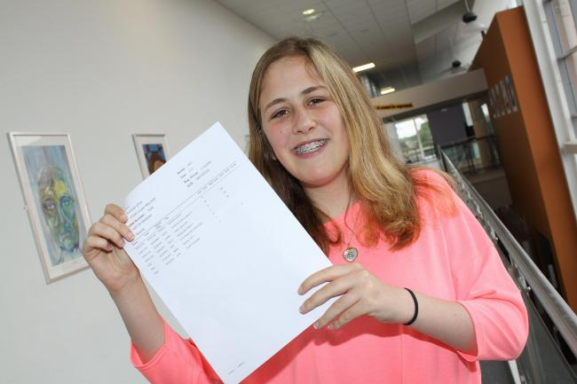 Chloe Ireland, who achieved great GCSE results despite having open heart surgery