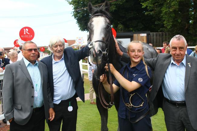 Whinmoor in the winners' enclosure at Redcar after winning last year. Picture: Peter Barron