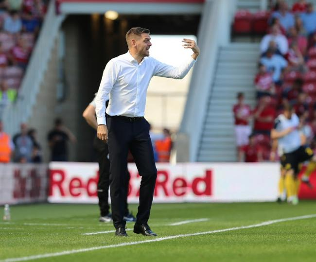 Jonathan Woodgate issues some touchline instructions during Middlesbrough's 1-1 draw with Millwall