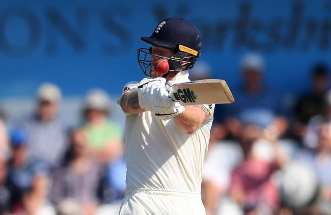 England's Ben Stokes is hit on the helmet during day four of the third Ashes Test match at Headingley. Picture: Mike Egerton/PA Wire