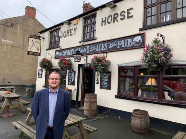 The Northern Echo: Michael Peacock, the prospective parliamentary candidate for the Lib Dems in North West Durham, is among the many local figures toasting The Grey Horse's success in the regional Pub of the Year awards