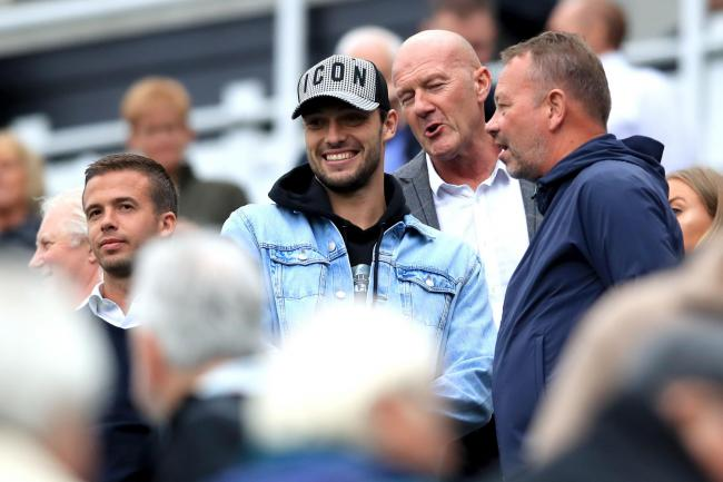 Andy Carroll in the stands  at St James' Park, Newcastle. Picture: Owen Humphreys/PA Wire