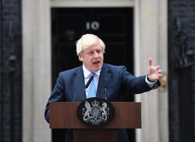 Prime Minister Boris Johnson speaking outside his official residence in London's Downing Street. Picture: Victoria Jones/PA Wire