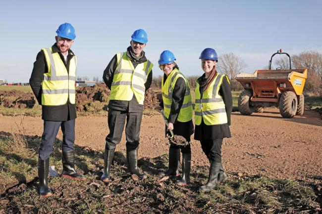 Ground-breaking ceremony at the Ingenium Parc development in Darlington. Picture: Stuart Boulton
