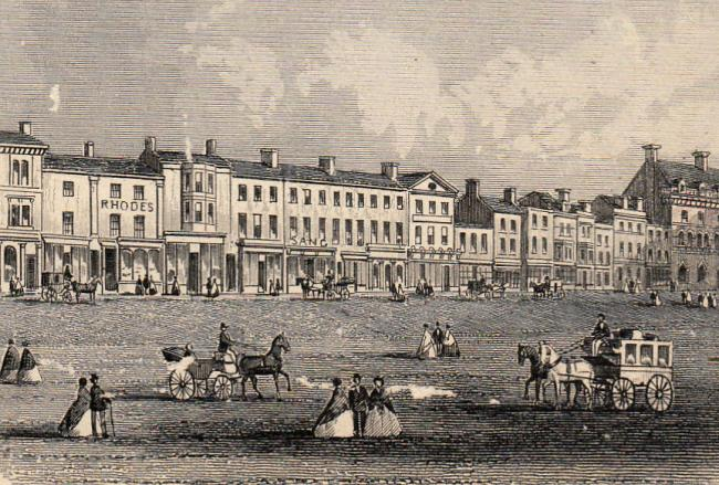 Darlington High Row in 1866