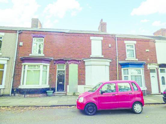 The house on Victoria Road in Thornaby, just one of the eight that are going to auction for £1