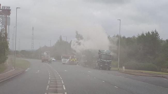 Newport Bridge closed due to lorry on fire Picture: CLEVELAND POLICE