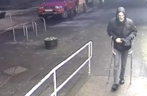 Parsons was caught on CCTV