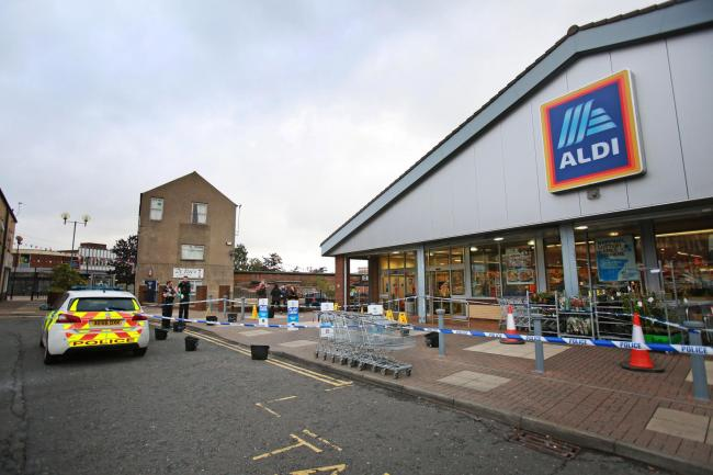 ALDI Spennymoor where an incident took place today Picture: SARAH CALDECOTT