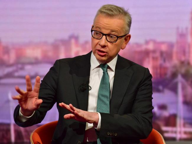 Chancellor of the Duchy of Lancaster Michael Gove appearing on the BBC1 current affairs programme, The Andrew Marr Show. Picture: Jeff Overs/BBC/PA Wire