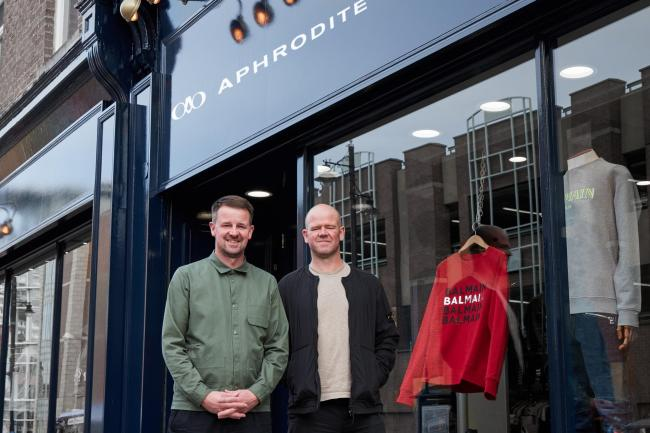Andy and Duncan McKenzie, who are celebrating 25 years of their Aphrodite clothes store