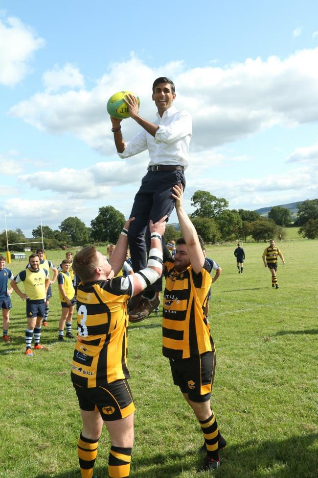 Rishi Sunak MP at the opening of new facilities at Wensleydale Rugby Club