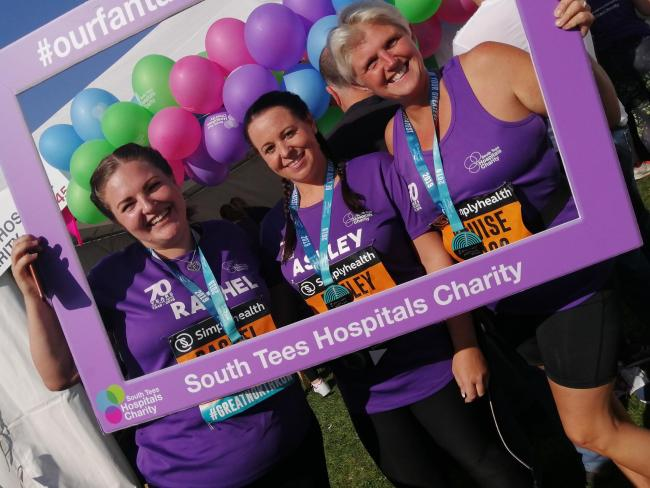 Proud fundraisers Rachel, Ashley and Louise