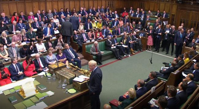 Prime Minister Boris Johnson making a statement to MPs in the House of Commons, London. Picture: PA Wire