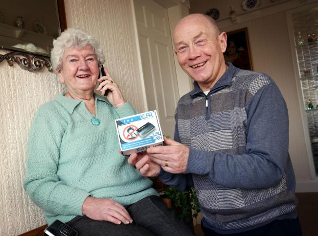 Older people said they feel much safer on the phone after support from Age UK County Durham volunteer Jim Jackson