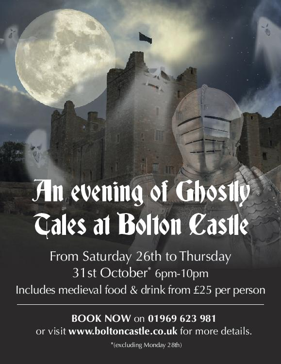 Ghost hunters welcome at Bolton Castle this Halloween