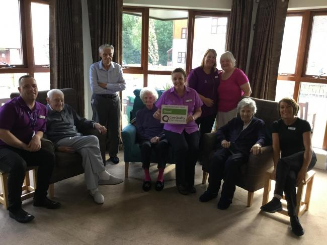 Staff and residents at Wynyard Woods Care Home