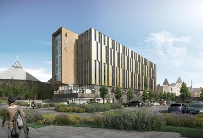 An artist impression of the new Hampton by Hilton hotel in Stockton