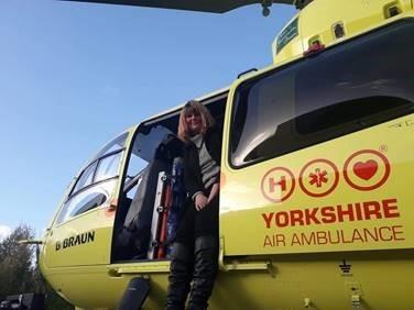 Helen Shepherd thanks the helicopter crews who helped save her life