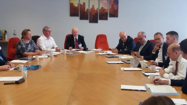 Labour MPs Andy McDonald and Anna Turley attended a roundtable meeting in company with Conservative MP Simon Clarke