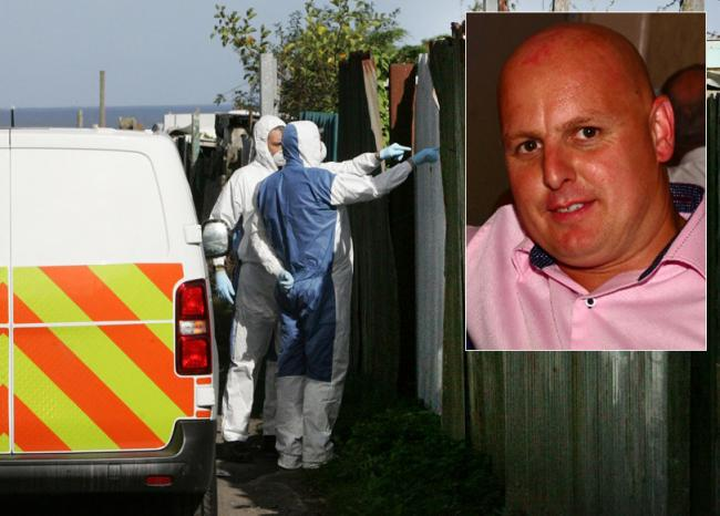 Police investigating the murder of John Littlewood (inset) are searching allotments on the outskirts of Blackhall Colliery. Picture: Gavin Engelbrecht