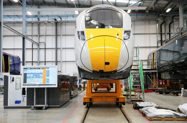 Trains being built in Hitachi's multi-million pound factory in Newton Aycliffe	 Picture: SARAH CALDECOTT