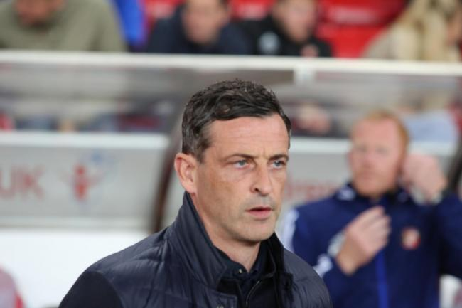 Jack Ross watches on during Sunderland's 1-1 draw with Rotherham