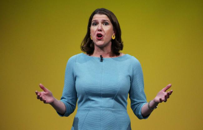 Liberal Democrat leader Jo Swinson makes a speech during the Liberal Democrats autumn conference at the Bournemouth International Centre in Bournemouth. Picture: Jonathan Brady/PA Wire
