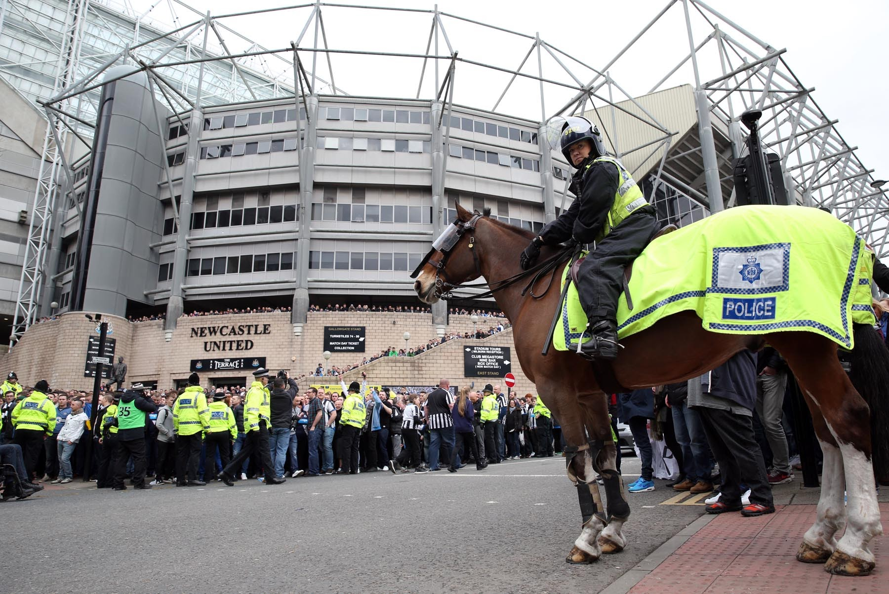 Newcastle United fans top national football banning orders table