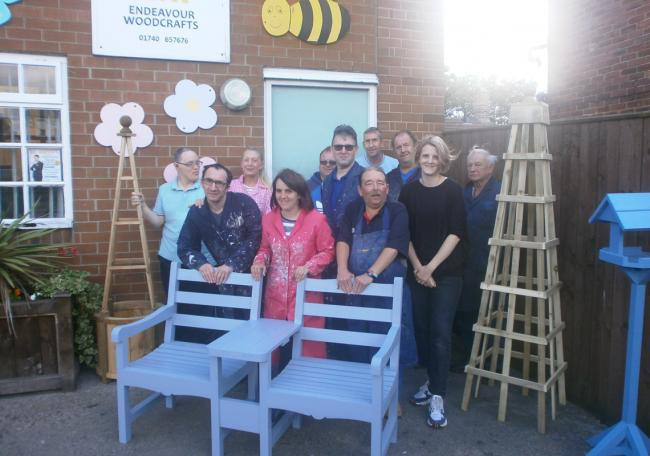 Members of Endeavour Woodcrafts CIC in Ferryhill, which has won an award