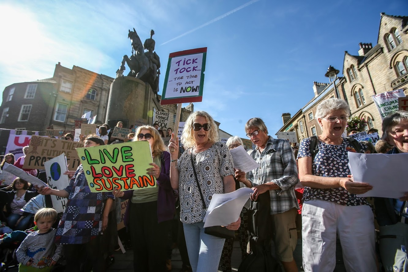 Climate change protests in Durham, Darlington and Bishop Auckland on day of action