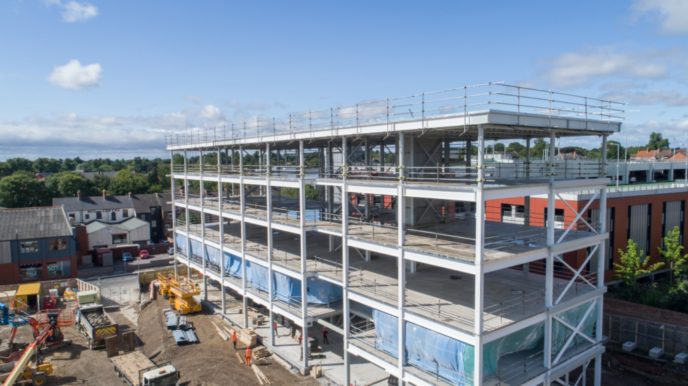 Take a 'selfie' at the top of Darlington's new office building