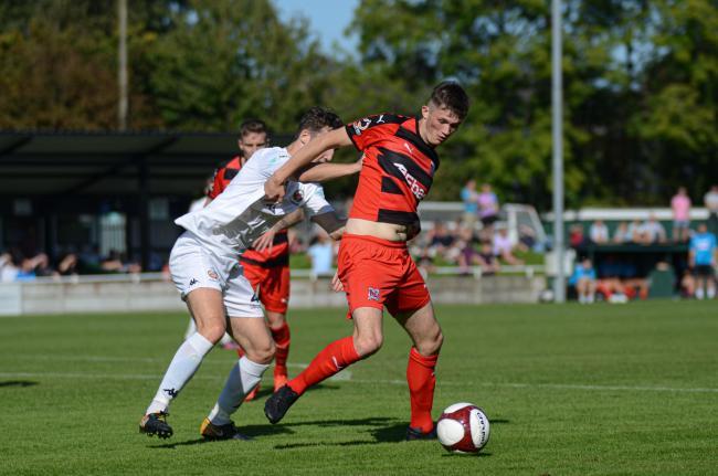 Tyrone O'Neill put Darlington ahead on Saturday at Leamington. Picture: TIM HICKMAN