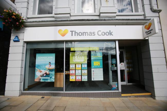 The Thomas Cook shop in Darlington town centre, which is now closed. Picture: SARAH CALDECOTT