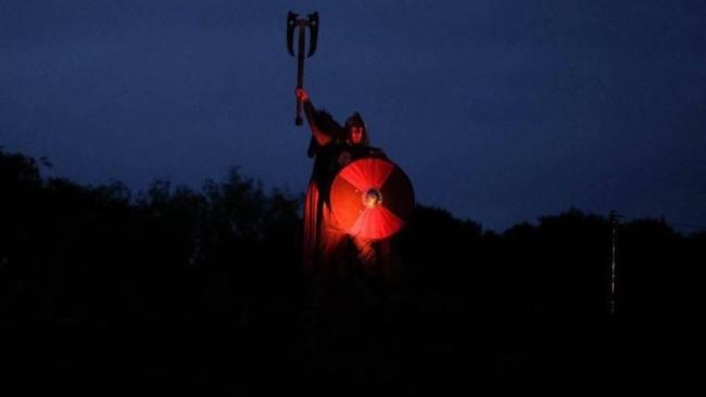 Carl Howe, seen here in Kynren, is one of three partners opening an axe-throwing centre in Ayclfife