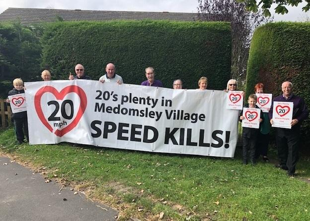 Residents in Medomsley are campaigning to reduce the speed limit from 30mph to 20mph