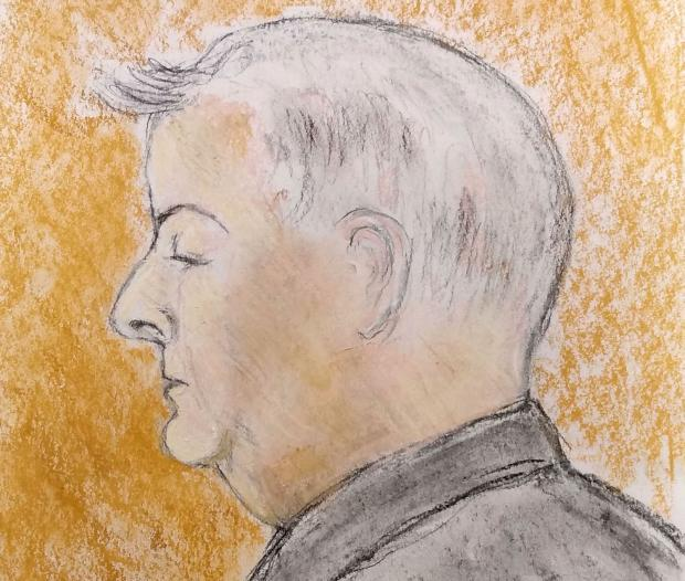 The Northern Echo: An artist's sketch of David Cottrell when he appeared at Newton Aycliffe Magistrates' Court
