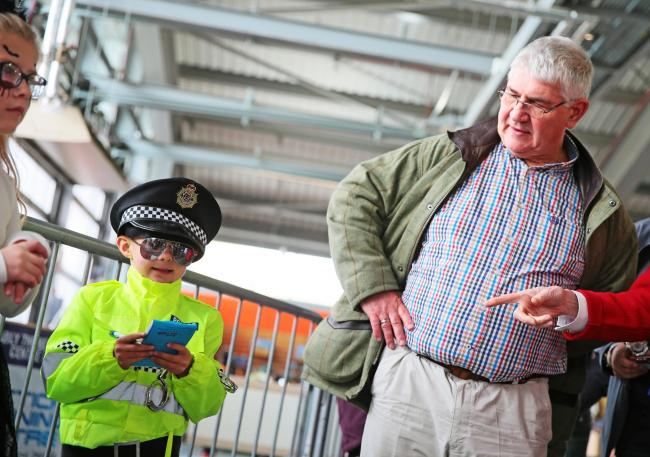Ron Hogg with a very junior officer at a community event at the Locomotion museum in Shildon. Picture: Sarah Caldecott