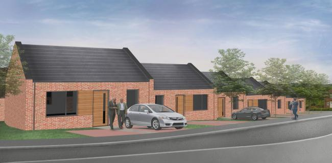 An artist's impression of proposed bungalow complex