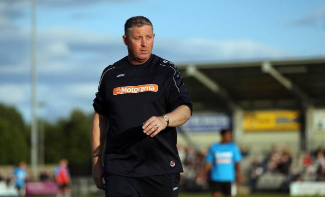 Darlington manager Alun Armstrong. Picture: CHRIS BOOTH