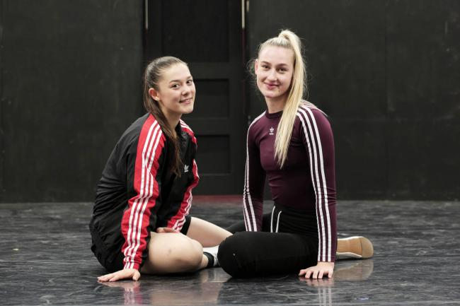 Dancers Chloe Shutt and Lisa Robinson, who are appearing in Romeo and Juliet at Newcastle's Theatre Royal Picture: STUART BOULTON