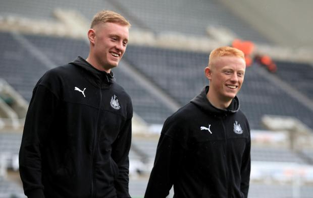 The Northern Echo: Newcastle United's Sean Longstaff (left) and Matthew Longstaff arriving before the Premier League match at St James' Park, Newcastle. Picture: Owen Humphreys / PA Wire