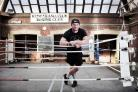 Former SSI worker turned boxing coach Niki Wiley at Redcar Amateur Boxing Club. Photograph: Stuart Boulton